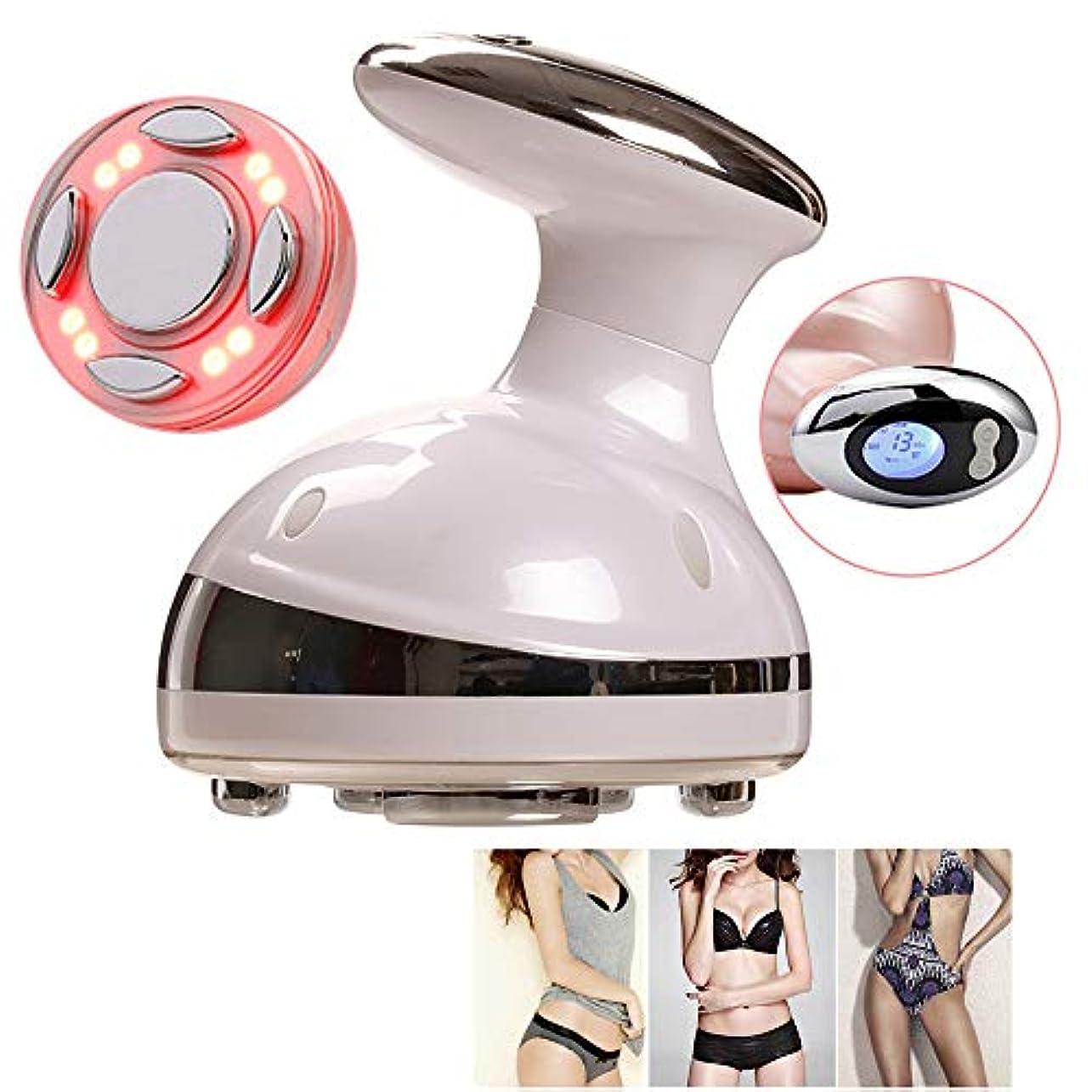 ルアー責める勧める電気 RF キャビテーション超音波ボディ痩身マッサージ LED 脂肪バーナー抗セルライト肌引き締め減量美容ツール,White