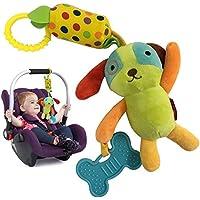 United global 音の出る お出かけ トイ ストローラー ベビーカー ドライブ 用 知育玩具 おもちゃ 出産祝い (イヌ)