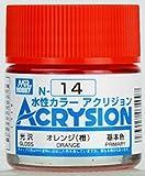 【水性アクリル樹脂塗料】新水性カラー アクリジョン オレンジ(橙) 光沢 N14