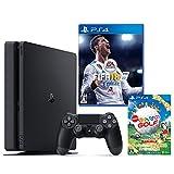 PlayStation 4 ジェット・ブラック 500GB + FIFA 18 + New みんなのGOLF ダウンロード版【Amazon.co.jp限定】オリジナルカスタムテーマ配信
