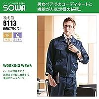 SOWA(桑和) 秋冬 長袖 ブルゾン T/Cソフトツイル 制電 6113 色:モスグリーン サイズ:SS