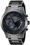 ゲス GUESS Men's U0668G2 Dressy Gunmetal Stainless Steel Multi-Function Watch with Chronograph Dial and Deployment Buckle [並行輸入品]