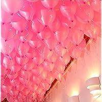 SGFY 結婚式 パーティー 風船 ピンク100個&パープル100個セット 200個入り ポンプとリボン付き