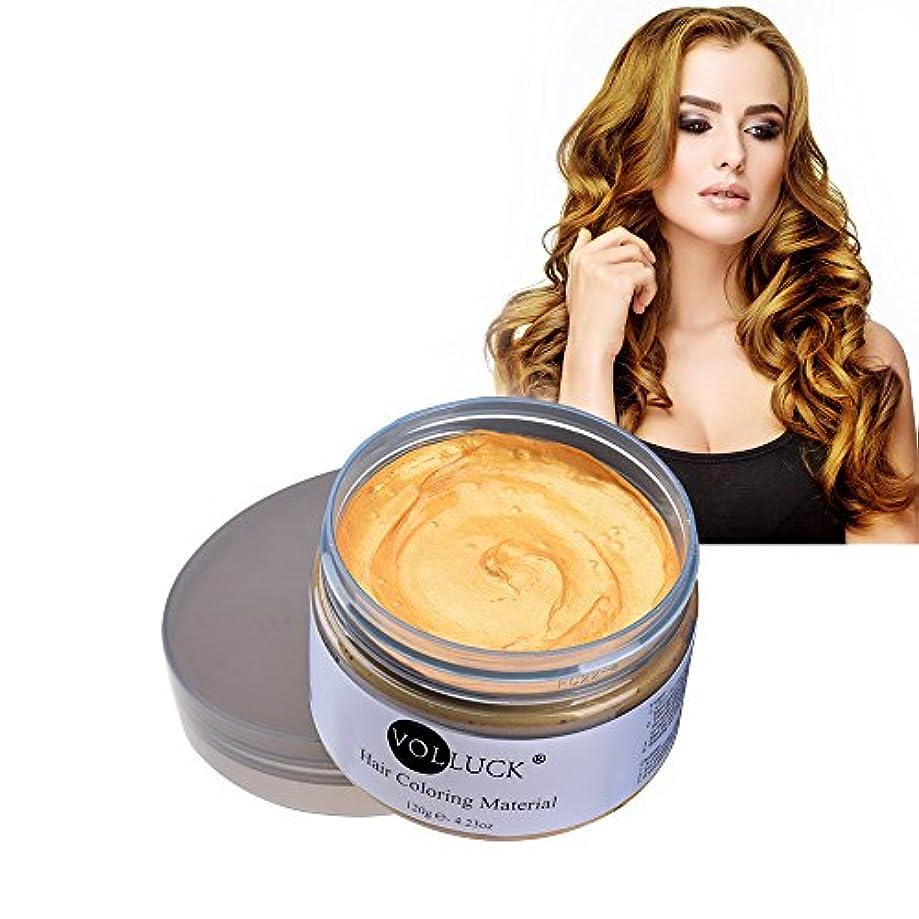 苛性ヒューム放射性VOLLUCK ヘアカラーワックス たっぷり120g (ゴールド)Hair color Wax ビーズワックス他ナチュラル成分【並行輸入品】