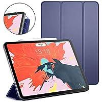 DTTO iPad Pro 12.9インチケース 2018、[Apple Pencilのペアと充電サポート] 磁石で取り付けられたスマートカバー すべての102マグネット付き 正確に配置 自動スリープ/ウェイク iPad Pro 12.9インチ用, CS-iPad Pro 12.9 case-Navy Blue