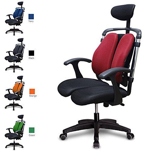 ハラチェア HARA CHAIR ニーチェK オフィスチェア ワーキングチェア ハラチェアー 腰痛軽減 事務椅子 送料無料 (レッド)
