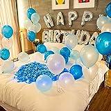 誕生日 飾り付け バルーン HAPPY BIRTHDAY 風船 セット バースデー デコレーション パーティー お祝い 装飾 ポンプ 両面テープ リボン 花びら 付き J039B