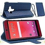 F.G.S ダークブルー HTC J butterfly HTV31 ケース HTV31 カバー HTV31 手帳型 ケース カードセット付き スタンド機能付き ストラッププレゼント F.G.S正規代理品