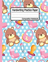 Handwriting Practice paper: Cute Bear Dotted Midline | Grades K-3 K-2 School Exercise Book | 120 Story Pages - mermaid