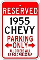 195555Chevyアルミニウム駐車場サイン 12 x 18 Inches CAR1001-00108-1218