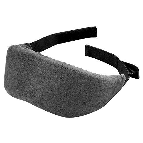 PLEMO アイマスク 立体型 超ソフト 優れる通気性 フィット感 快眠グッズ 男女兼用 睡眠補助 睡眠 旅行に最適 (濃いグレー)