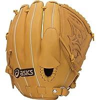 asics(アシックス) 軟式 少年野球用 グローブ ダルビッシュ モデル 投手 (右投げ用) プロフェッショナルスタイル BGJDPR サイズ大 オレンジ 指カバー付き 2014年モデル