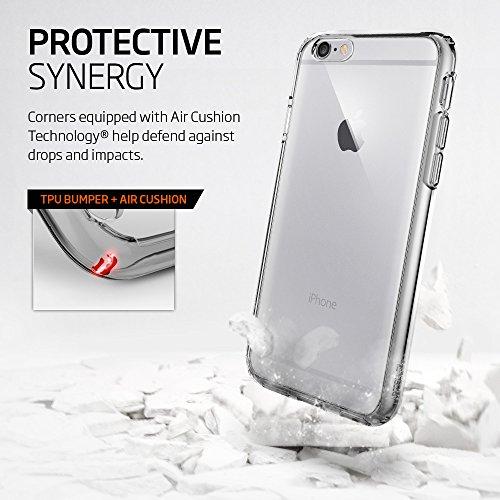 『【Spigen】iPhone6S ケース / iPhone6 ケース ウルトラ・ハイブリッド 米軍MIL規格取得 (スペース・クリスタル SGP11599)』の4枚目の画像