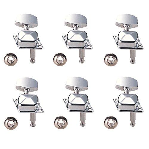 キクタニ 糸巻き ペグ カバードタイプペグ 右3+左3 1セット GM-FP クロム