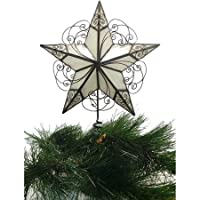 Holiday Time Capiz Brown Natural Swirl Tree Topper【クリスマス】【ツリー】 [並行輸入品]