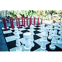 megachess Giantチェスセット – レッドandホワイト – プラスチック – 49インチKing