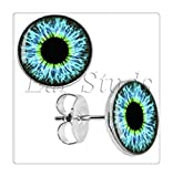 グリーン眼球の耳のスタッドのイヤリングうそつきは、Diameterプラグ