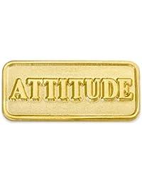 PinmartのゴールドメッキAttitudeラペルピン 25 ゴールド