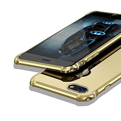 【MOBY】 iPhone8 ケース [ 極薄型 金属 カバー アルミ加工 カメラ保護 ] アイフォン8 4.7インチ 用 耐衝撃 カバー (iPhone8, ゴールド)