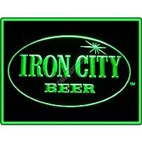 Iron City Beer Bar Pub Restaurant Neon Light Sign–グリーン