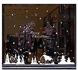 ウォールステッカー シール クリスマス花火 ホワイト 可愛い 窓 ガラス (ホワイト)