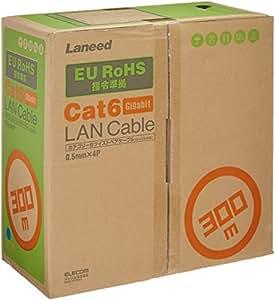 エレコム LANケーブル 300m 自作用 RoHS指令準拠 CAT6 ブルー LD-CT6/BU300/RS