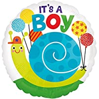 Anagramホイルバルーン3364601It 's A Boy Snail、18インチ、マルチカラー