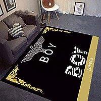 YETUGE-X ラグカーペット 絨毯カーペット ラグマット 長方形 シンプル 洗える おしゃれ ラグ カーペット 北欧 オールシーズン ラグ リビングラグ (100*160CM,36)