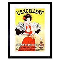 Food Ad Beef Meat Stock Soup Paris France Framed Wall Art Print