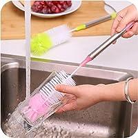 洗いブラシ 水筒 ボトル コップ 哺乳瓶 洗浄ブラシ ロングボトルブラシ 長柄 回転式