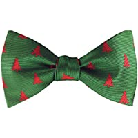 KOOELLE Mens Self Bowtie for Christmas Woven Bow Ties Novelty Patern for Holidays Gift