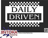 JINTORA ステッカー/カーステッカー - driven daily big - 毎日大きく動く - 191x99 mm - JDM/Die cut - 車/ウィンドウ/ラップトップ/ウィンドウ - 白