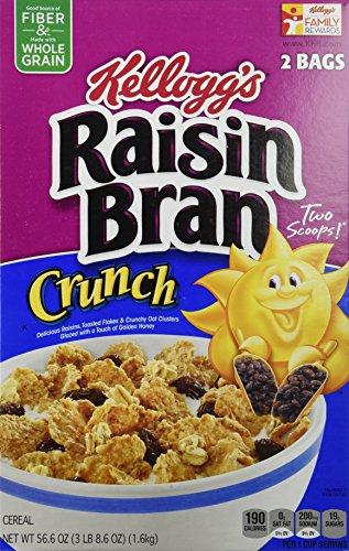 ケロッグ レーズンブラン クランチ シリアル Kellogg's Raisin Bran Crunch Cereal, 56.6 oz