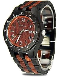 18507af359 YFWOOD 腕時計 木の時計 ユニセックス 欧米に圧倒的な人気を持って