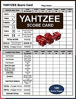 Yahtzee Score Card: Yahtzee Score Sheet Record, Score Score Sheet, Score Keeper Book