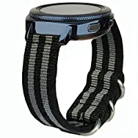 20mm 22mm 24mm腕時計バンド、編みナイロンNATO時計バンドソフト用交換バンドメタルズールーリング&バックルメンズレディース's Watch by olytop
