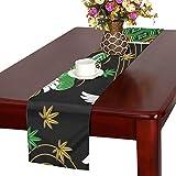 LKCDNG テーブルランナー カラフル きれい 和風のつる クロス 食卓カバー 麻綿製 欧米 おしゃれ 16 Inch X 72 Inch (40cm X 182cm) キッチン ダイニング ホーム デコレーション モダン リビング 洗える