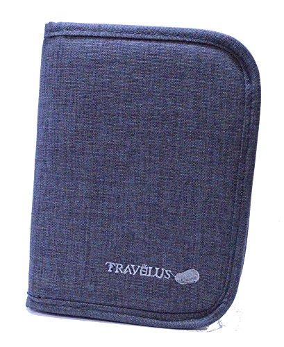 RedFrogs パスポートケース 多機能 収納ポケット トラベルウォレット パスポートカバー オリジナルロゴ入りミニポーチ付 (GRAY)