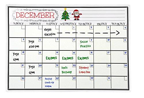 Bestool 磁気 月予定表 マンスリーボード ホワイトボード カレンダー 冷蔵庫用