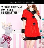 ハロウィン コスプレ サンタ ボディーライン クリスマス 大きいサイズ サンタコス コスチューム サンタクロース かわいい 衣装 黒×赤サンタワンピース ハロウィンコスチューム ハロウィンコスプレ ハロウィンコスプレ