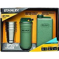 Stanley Adventure Stainless Steel Shots + 8oz Flask Gift Set Hammertone Green [並行輸入品]