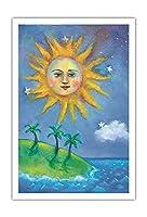 ハワイの日(ラ) - ペイントされた元の色からのものです によって作成された ニコラ・モス - アートポスター - 76cm x 112cm