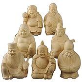 木彫開運お守り像 七福神 (7体セット)