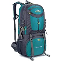 Hiking Backpack Nylon Waterproof Large Capacity Daypack for Outdoor Sports Travel Fishing Cycling Skiing Climbing Camping Mountaineering (Lake Blue-60L)