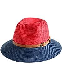 夏レディースサンシェードサンハット - ファッションカジュアル麦わら帽子屋外折りたたみビーチバケーションビーチハット (色 : Red)