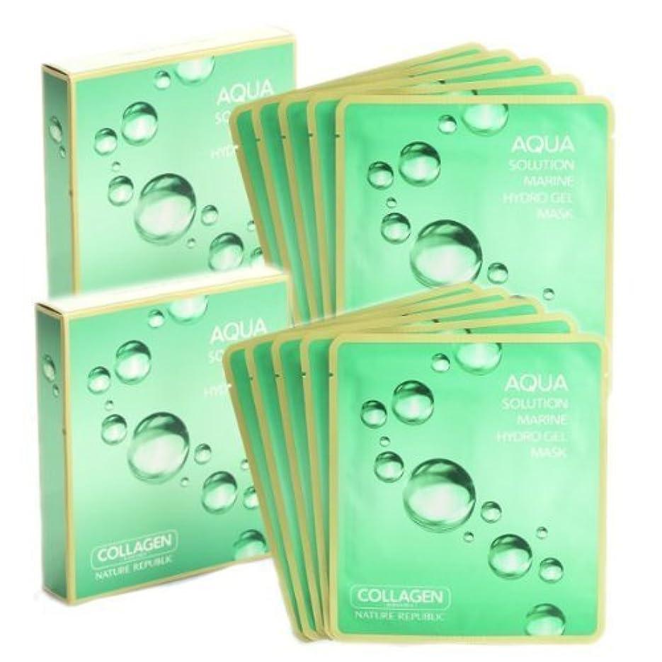 着替える消毒剤憂慮すべきネイチャーリパブリック アクアソリューション マリンハイドロゲルマスク 10枚セット