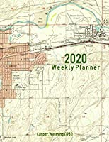 2020 Weekly Planner: Casper, Wyoming (1951): Vintage Topo Map Cover