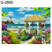 goupgolboll-30×40センチメートル風景ボート5dフルラウンドダイヤモンドクロスステッチDIYの壁画 - G-2550