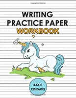 Writing Practice Paper Workbook: Handwriting Unicorn Notebook for kids 6x9 120 pages, Learn to write alphabets  and improve writing skills with dotted journal for primary, preschool, school, kindergarten, Preschoolers.