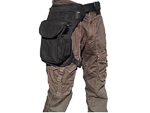ROZZERMAN 腿にベストフィット! ウェストポーチ 腿用 バッグ 多機能 タクティカル マガジン (黒(プレミアム))
